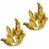 Motif Sequin Leaf Gold 9X9cm